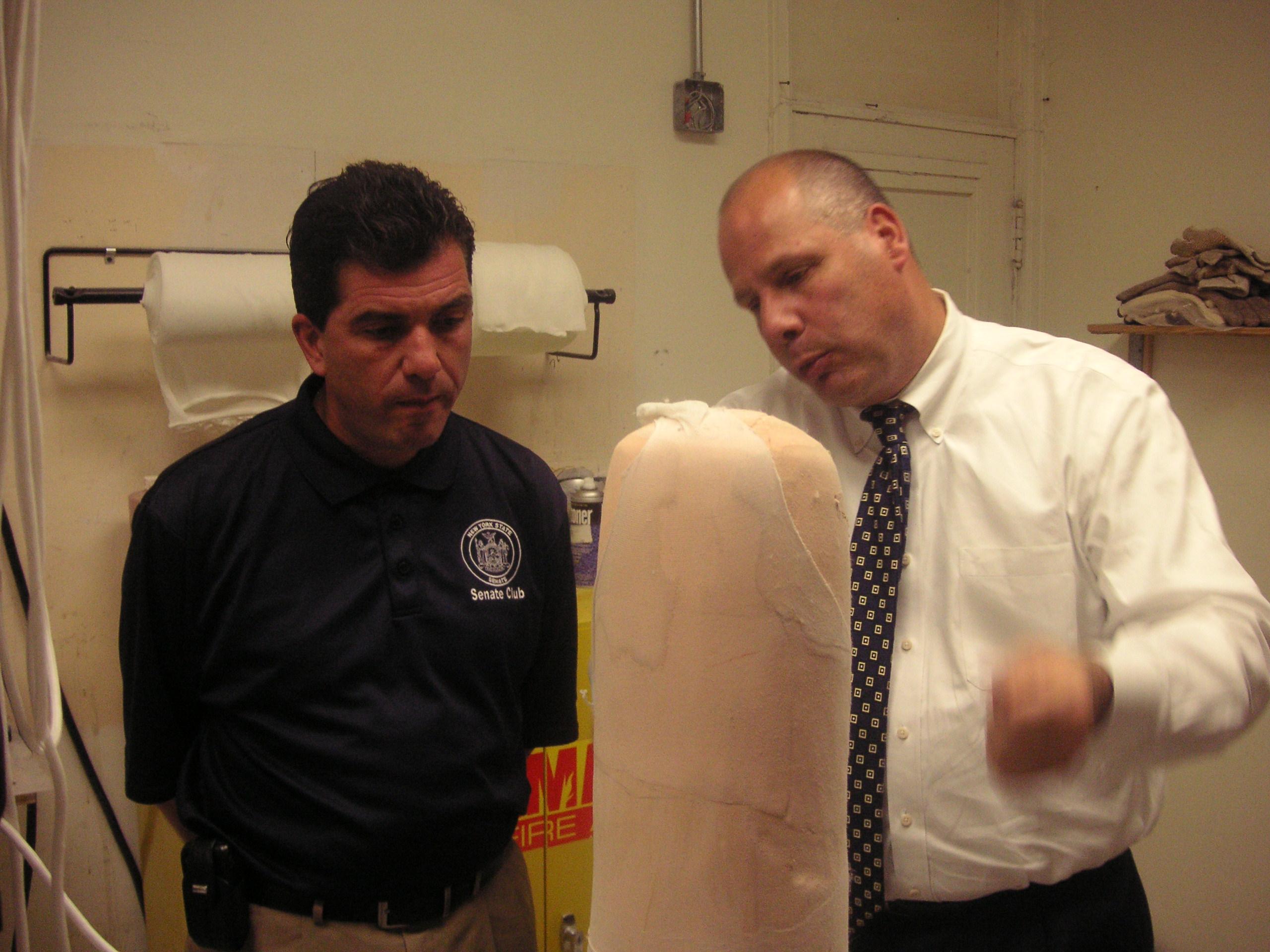 New York Senator Mark Grisanti and East Coast O & P CEO Vincent A. Benenati, CO