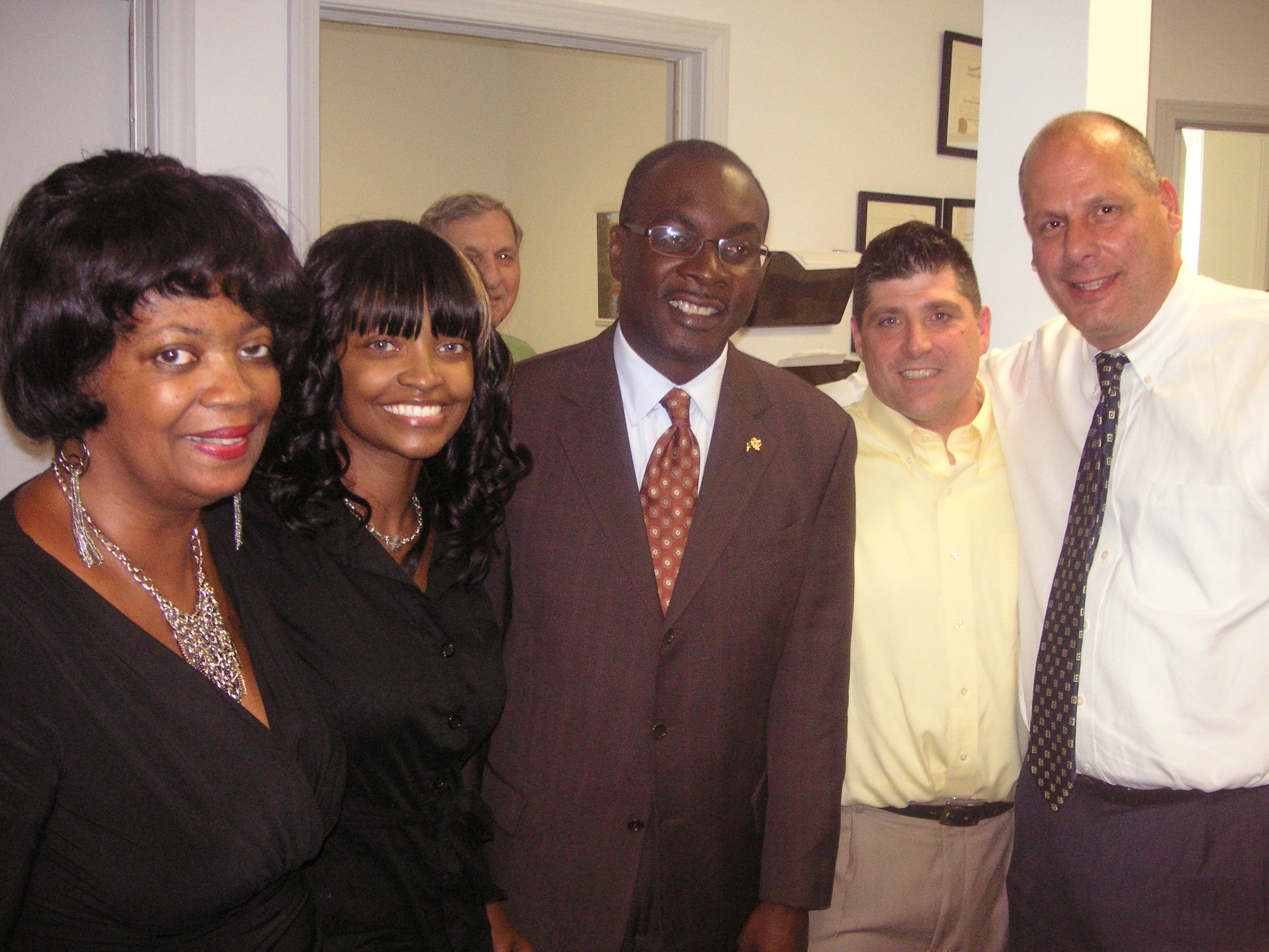 Roxanne Smith, Shannon Smith, Mayor Byron Brown, Christopher Berger, Vincent A. Benenati